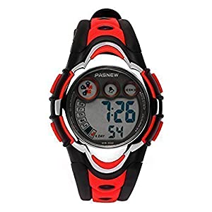 Hiwatch Kinder Armbanduhr, Multifunktionale Digitale LED Wasserdichte Sportuhr