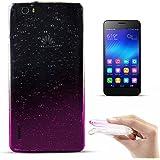 Zooky® Carcasa con gotas de lluvia ultra fina y suave de alta calidad TPU / funda para Huawei Honor 6X / 6 Plus, Transparente / Rosa