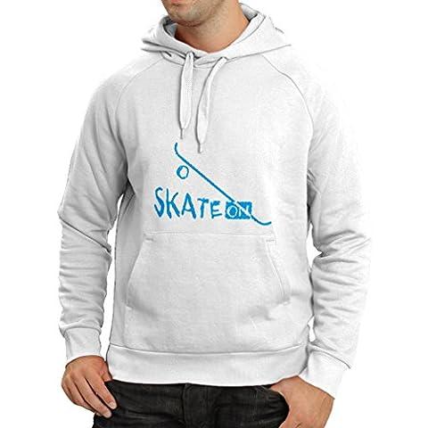 Hoodie Skate ON ! (XX-Large White Blue)