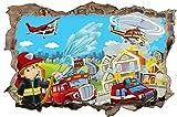 Feuerwehr Stadt Feuer Kinder Wandtattoo Wandsticker Wandaufkleber D0867 Größe 70 cm x 110 cm Vergleich