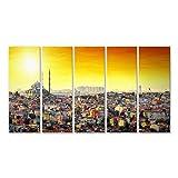 islandburner Bild Bilder auf Leinwand Istanbul Türkei Sonnenuntergang Poster, Leinwandbild, Wandbilder