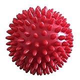 Househome Bolas de Masaje con Pinchos, 8,5 cm, para Ejercicios de relajación, Masaje de Punto de Actividad, Bola miofascial, Rojo …