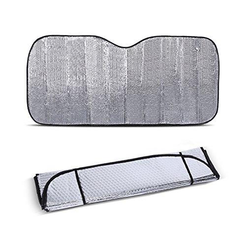 Yosoo Parabrisas universal grande de color plata del coche , Parabrisas Parasol calor reflectante del visera de la ventana delantera del Bloque UV
