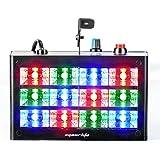 Eyourlife Stroboscope LED Projecteur à Effet LED Lampe d'Ambiance 12 LED RGB Contrôle Sonore pour Soirée Disco DJ Club Bar avec EU Prise