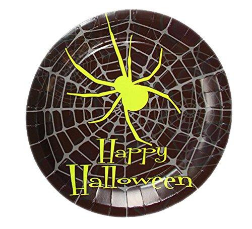-Party-Einweg-Papier-Kuchen-Schalen (23 cm, schwarz) (Servierplatten Halloween)