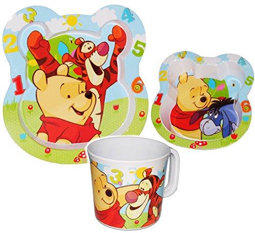 3-tlg-Geschirrset-Disney-Winnie-the-Pooh-Tigger-aus-Melamin-Trinktasse-Teller-Mslischale-Suppenschssel-Kindergeschirr-Frhstcksset-Melamingeschirr-Kunststoff-fr-Mdchen-Jungen-Elerngeschirr-Elernbesteck