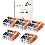 25 XL ( 5 Sets) Colour Direct Compatible Cartouches d'encre compatibles Remplacement Pour Canon CLI-551XL/ PGI-550XL - Pixma MG5450 MG5550 MG5650 MG6350 MG6450 MG6600 MG6650 MX925 MX725 MG7150 MG7550 iP7250 iP7200 iP8750 iX6850 Imprimantes