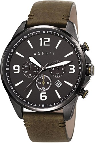 esprit-clayton-mens-quartz-watch-with-black-dial-chronograph-display-and-khaki-brown-leather-strap-e