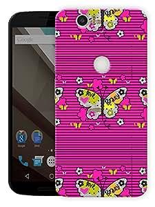 "Humor Gang Butterflies World Printed Designer Mobile Back Cover For ""Google Nexus 6 Plus"" (3D, Matte Finish, Premium Quality, Protective Snap On Slim Hard Phone Case, Multi Color)"