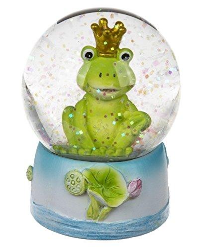 Polyresin Schüttelkugel Frosch mit Krone -