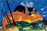 Posterlounge Alu Dibond 150 x 100 cm: Zwei Katzen von Franz Marc