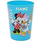 """3 in 1 - Trinkbecher / Zahnputzbecher / Malbecher - Becher - """" Disney Minnie Mouse - BLAU """" - 280 ml - Trinkglas aus Kunststoff Plastik - für Kinder - Mädchen - mehrweg - Kindergeschirr - Kinderglas - Kinderbecher Camping Set / Plastikbecher - Kunststoffbecher / Trinklernbecher bunt - Geschirr - Maus / Playhouse - Daisy Mickey - Blumen Herzen - Campingbecher / Campinggeschirr - Plastikgeschirr"""