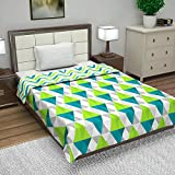 Divine Casa Microfibre Reversible Geometric Blanket/Duvet AC Single Dohar (Blue)