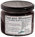 Pflaumenmus Spezialität - Omas gutes Pflaumenmus, ohne Zuckerzusatz, 300g, hergestellt nach historischem Rezept