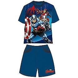 Avengers - Pijama dos piezas - para niño azul claro 3 años