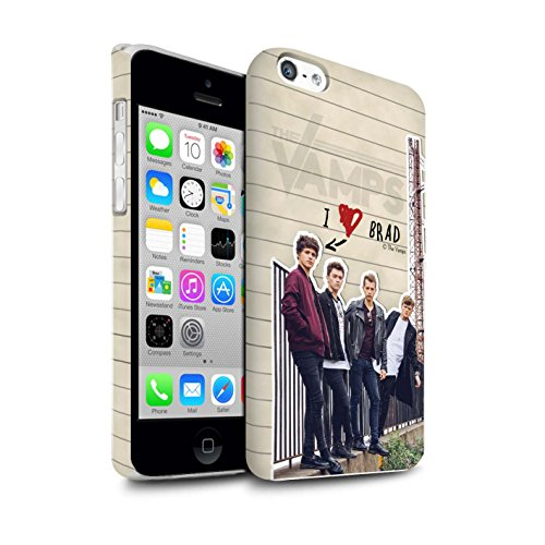 Offiziell The Vamps Hülle / Matte Snap-On Case für Apple iPhone 5C / Pack 5pcs Muster / The Vamps Geheimes Tagebuch Kollektion Brad