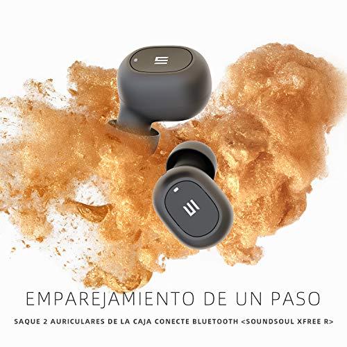 Auriculares Bluetooth 5.0, SoundSOUL Mini TWS Auriculares Inalámbricos Estéreo XFree In- Ear Cascos Bluetooth IPX4 Impermeable Manos Libres Micrófono Integrado con Caja de Carga Portátil