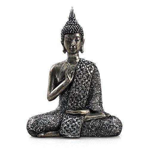 """pajoma Deko Buddha \""""Paduma\"""" sitzend, Gr. S, H 20,5 cm"""