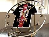 Bundesliga Fußball-Uhrim Trikot-Design –personalisierbar Bayer 04 Leverkusen