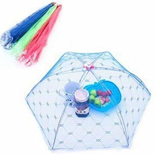 1er-Set große Abdeckhauben / Netzabdeckung für Lebensmittel, wiederverwendbar und zusammenklappbar, 40,6cm, für Picknick/Grillen, zum Fernhalten von Fliegen, Käfern, Mücken–Farbe zufällig