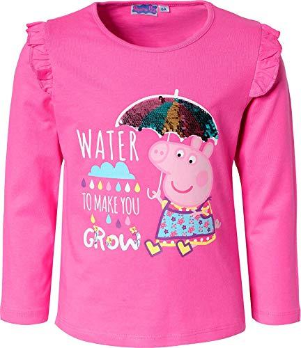 Hello Kitty Socken - Peppa Wutz Langarmshirt mit Wendepailetten Mädchen