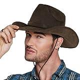 Boland 29238 - Cowboy Utah Cappello, Effetto Pelle, Marrone