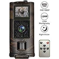 Wildkamera 1080P, TOGUARD 12MP Full HD Jagdkamera 120°Breite Vision Infrarot 20m Nachtsicht Wasserdichte IP56 Überwachungskamera mit Fernbedienung