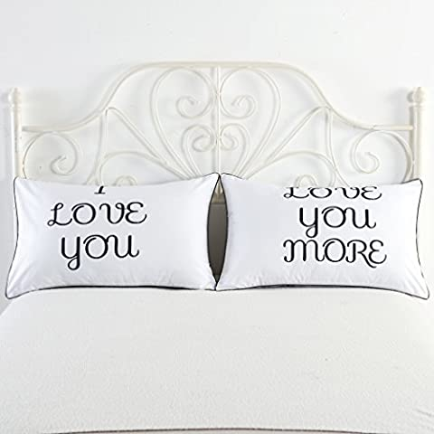 I love you and love you more couples pillowcases,couples / lovers Gift his hers pillowcase( 74*48