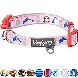 Blueberry Pet Smart Chic Bon Voyage Ozeanlandschaft Delfin Designer Hundehalsband, Hals 30cm-40cm, S, Halsbänder für Hunde