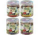 Dehner Best Nature di cani Snack Mix, rinderlungen, galline Cuori, Agnello lungen Colli e anatra, 4Barattoli (250G)