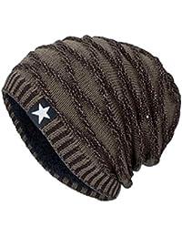 Yuson Girl Beanie Cappelli Invernali Berretti in Maglia Cappelli da Uomo e Donna  Beanie Cappello in 1e6c323a1c43