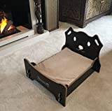 Living Traditional Doggy Four Post Wooden Bed Frame & Super Soft Matress Pet Bed + FREE Branded Crufts Dog Toy