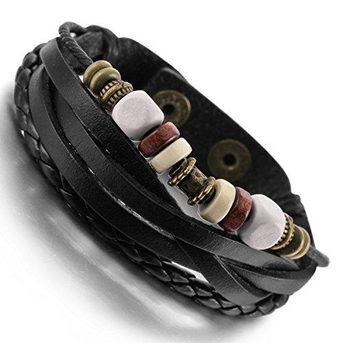 munkimix-lega-vera-pelle-lega-legno-bracciale-braccialetto-bangle-polsino-corda-argento-nero-surfer-