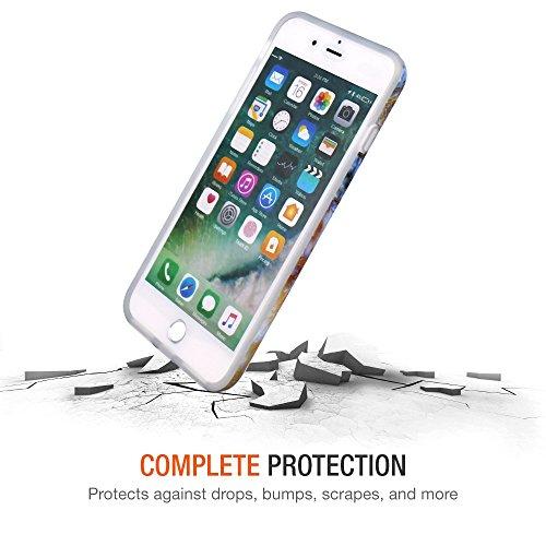 iPhone 7 Plus Hülle, JIAXIUFEN Shiny Gold Pineapple Baby Pink Marmor Flexible TPU Silikon Schutz Handy Hülle Handytasche HandyHülle Schale Case Cover Schutzhülle für Apple iPhone 7 Plus /iPhone 8 Plus Blau Braun