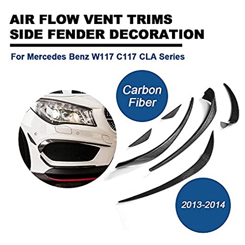 Fibre de carbone Palmes de pare-chocs avant pour Mercedes Benz: C117CLA Série 20132014Tgfof Corps garnitures de kit