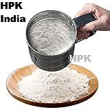 HPK Stainless Steel Sieve Mesh Mechanical Sifter Shaker Sugar Flour Cake Icing Powder Mixing Kitchen Tool