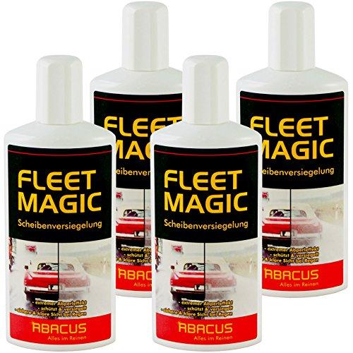 FLEET MAGIC 4er Set - Der unsichtbare Scheibenwischer (Wasserabweiser)