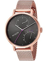Nixon Women's 'Clutch' Quartz Stainless Steel Casual Watch, Color: Rose Gold-Toned (Model: A11662618-00)