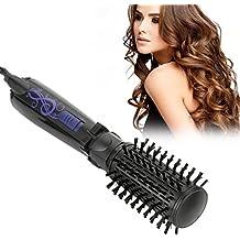 Cepillo giratorio del secador de pelo,2 en 1 anión automático peine del pelo peine