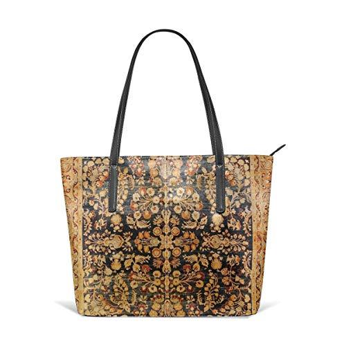 Sotyi-ltd Antike persische Khorassan Teppich Strand Tote Bag Reisetasche Spielzeug Einkaufstasche Schultertasche für Damen und Mädchen -
