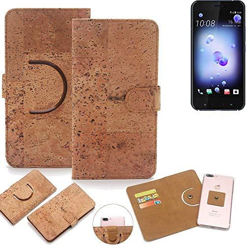 K-S-Trade Schutz Hülle für HTC U11 Dual-SIM Handyhülle Kork Handy Tasche Korkhülle Schutzhülle Handytasche Wallet Case Walletcase Flip Cover Smartphone