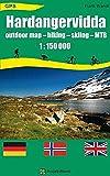 Hardangervidda: Outdoor Map - hiking - skiing - MTB 1:150 000 GPS Landkarte, Wanderkarte, Planungskarte, Wintersportkarte - Frank Brandl