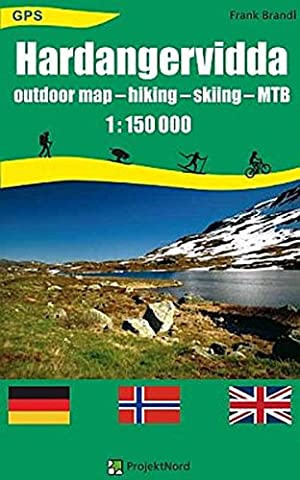 Hardangervidda: Outdoor Map - hiking - skiing - MTB 1:150 000 GPS Landkarte, Wanderkarte, Planungskarte,