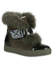 Stiefelparadies Damen Stiefeletten Winter Boots Warm Gefüttert Flandell 20a9fbca41