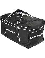 SHER-WOOD team Carry Bag - 90 x 50 x 43 cm - schwarz/Naranja