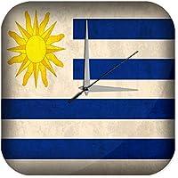 Reloj De Pared Trotamundos bandera de Uruguay Plexiglas Impreso