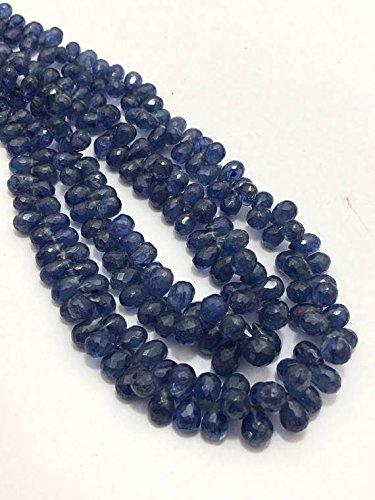 Naturale blu zaffiro sfaccettato gocce 3x 5a 4x 6mm 20,3cm/pietra preziosa naturale/blu zaffiro gocce/gocce/preziose gemme sfaccettate perline