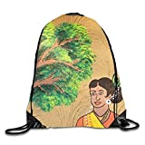 DANCENLI Unique Art Artistic Concept Drawstring Backpack Rucksack Shoulder Bags