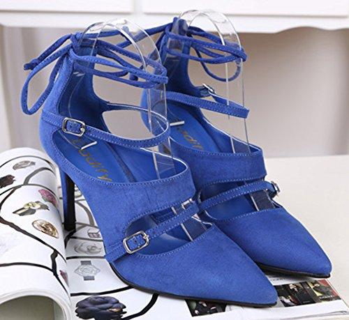 Hochzeit Spitz Aisun Blau Schuhe PU Sandalen Künstliche Damen Brautjungfern r5548qXw