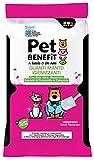 Pet Benefit - 6 guanti umidificati idratanti, rinfrescanti e igienizzanti - Con Aloe Vera, Camomilla, Bisabolo e Calendula